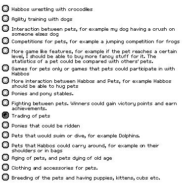 Pet features!